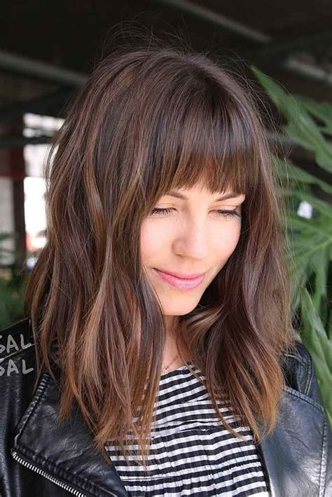 fringes with middle aparts hair styles 30 untraditional lob haircut ideas to give a try long