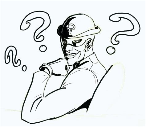 batman riddler coloring pages free coloring pages of riddler and joker