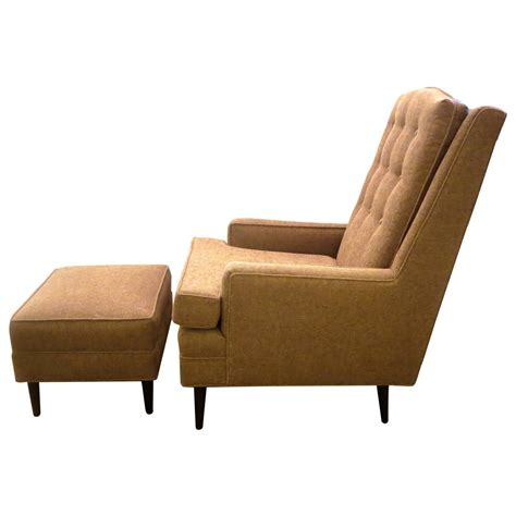 tall ottoman 1950s american modern tall back elegant lounge chair and