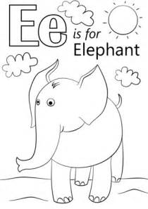 E Coloring Page Printable by Letter E Is For Elephant Coloring Page Free Printable