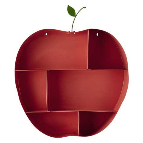 scaffali da parete scaffale da parete rosa a forma di mela in metallo h 73 cm