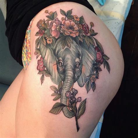 tattoo care hip elephant on girls hip by sophia baughan http