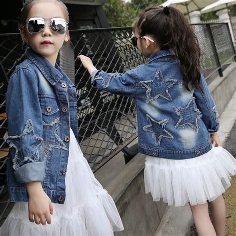 Jaket Wash Koreanstyle children s denim jacket denim jacket korean style fashion clothing