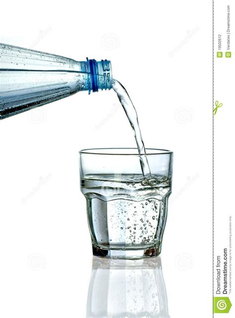 What To Fill Glass With Filling A Glass With Water On White Background Stock