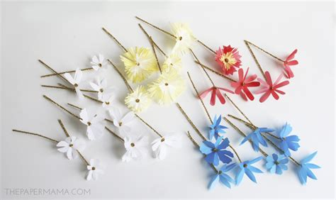 How To Make Mini Paper Flowers - mini paper flower bouquet