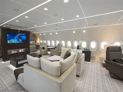 private jet bedroom inside the dreamliner that s been converted into a private