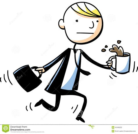 Businessman Coffee Spill Stock Vector   Image: 40498222