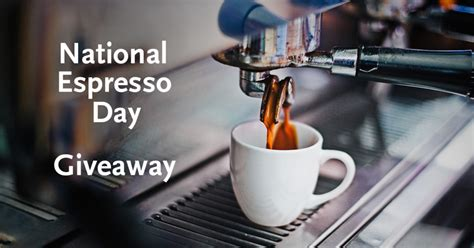 national espresso day giveaway trees organic coffee