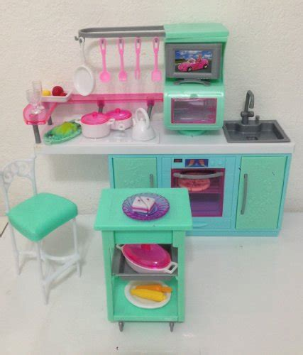 barbie kitchen furniture barbie size dollhouse furniture cooking corner kitchen set by huaheng toys new ebay