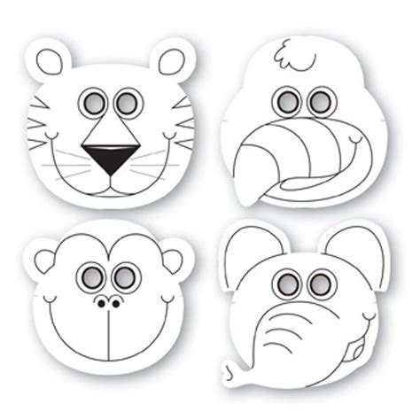 printable rainforest animal masks jungle buddies color your own paper masks for purchase