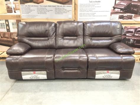 pulaski leather reclining sofa costco pulaski furniture leather reclining sofa model 155 2475