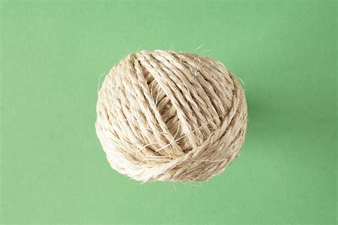 Tali Serat gambar tali wol bahan lingkaran membelitkan benang