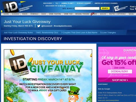 Investigation Discovery Giveaway Code - investigation discovery forget you week giveaway code required sweepstakes fanatics