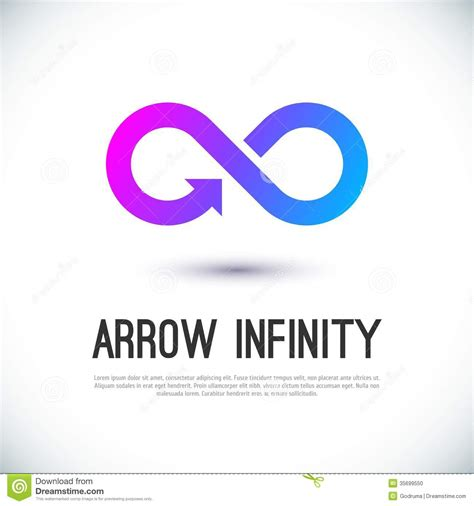 Arrow Infinity Business Vector Logo Stock Vector Illustration Of Icon Colorful 35699550 Sign Design Template