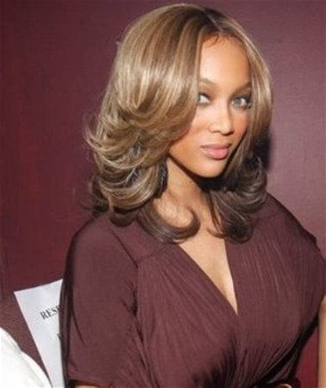 tyra banks with fringe bangs short hairstyle 2013 posted in celebrity hairstyles