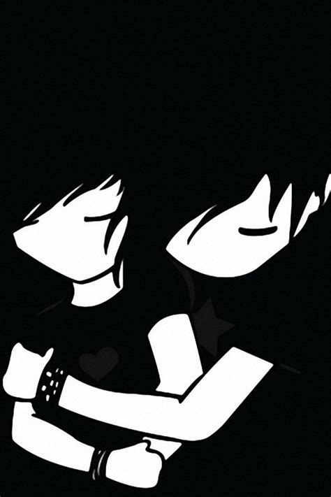 wallpapers for iphone emo emo boy and girl iphone4 4s wallpaper iphone faves