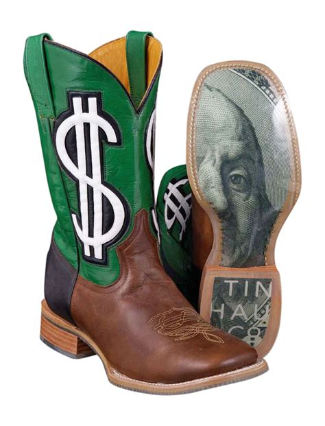 mens western boots 100 tin haul mens hundred dollar sign green benjamin western