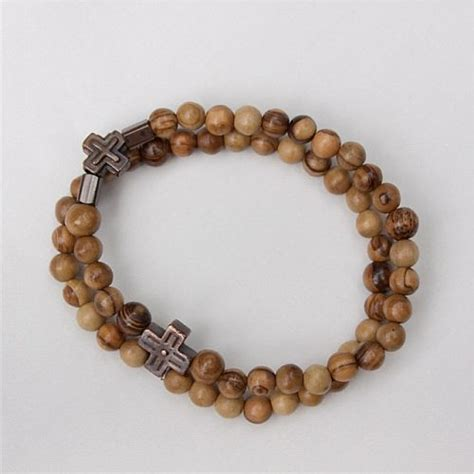 Men's Olivewood Rosary Bracelet :: Mens Rosary Bracelets and jewelry :: GraceMary