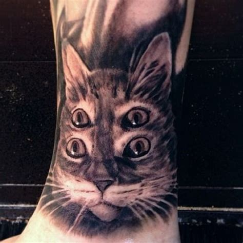 hologram tattoo awesome holographic cat by mike riina