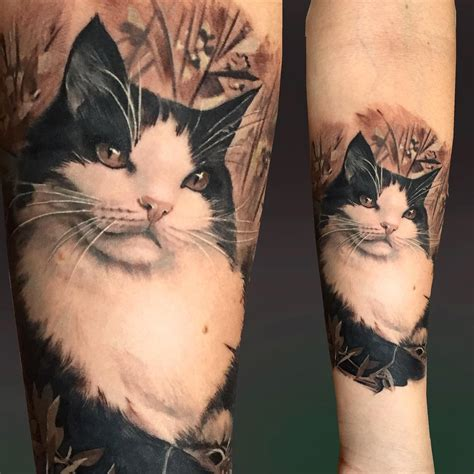realistic cat tattoo on arm best tattoo ideas gallery