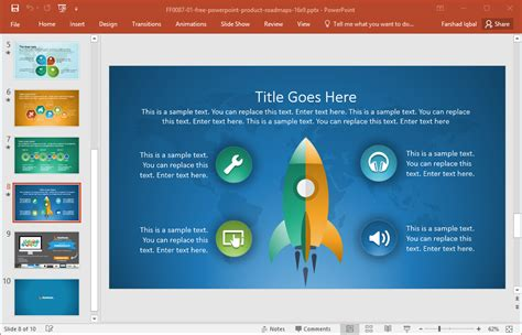 free product roadmap template powerpoint best roadmap templates for powerpoint