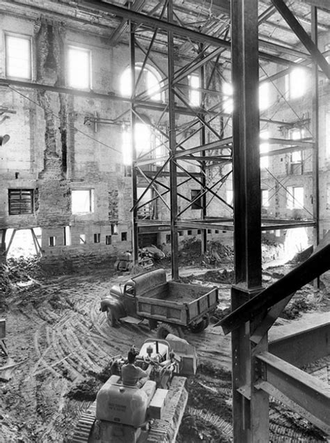 white house interior photos revealing historical photos show us white house gutted