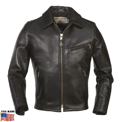 motorcycle jacket schott 174 s horsehide black leather racer