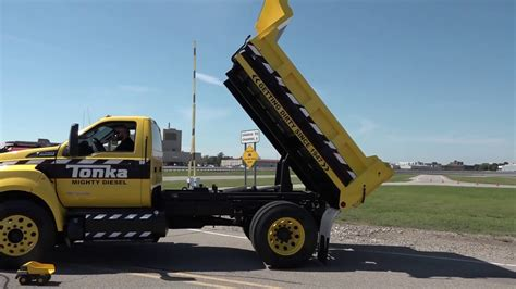 Ford F750 Tonka dump truck at Further with Ford   YouTube