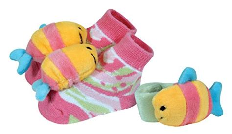 Wrist Rattle And Booties Set stephan baby go fish wrist rattle and rattle socks gift