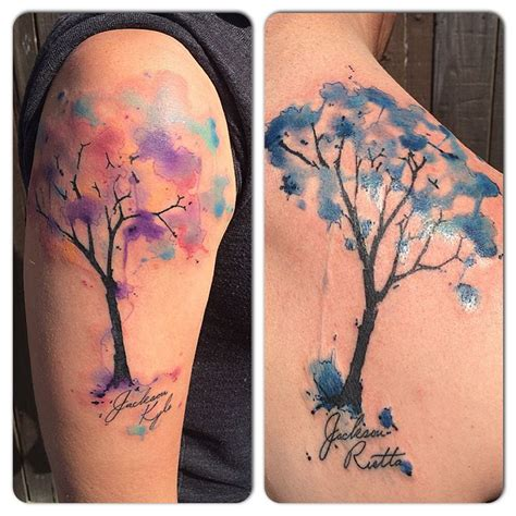 tattoo gallery san clemente watercolor couple tattoo by britta christiansen tattoos