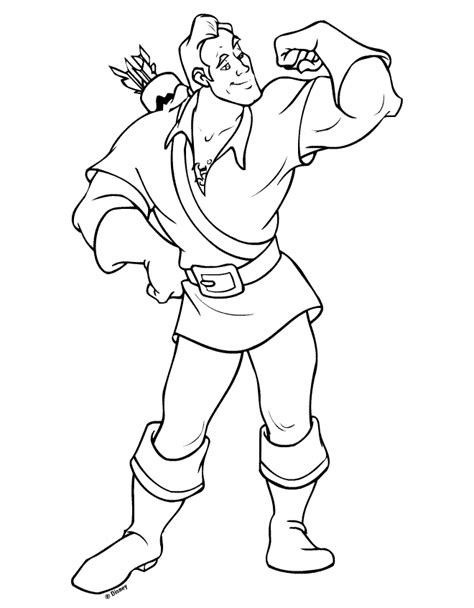 Beauty And The Beast Coloring Pages Gaston | gaston coloring book