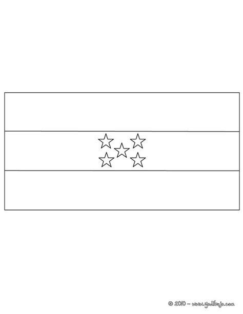 la bandera de honduras para colorear dibujos para colorear bandera honduras es hellokids com