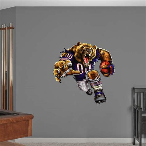 chicago bears home decor bruiser bear fathead wall decal