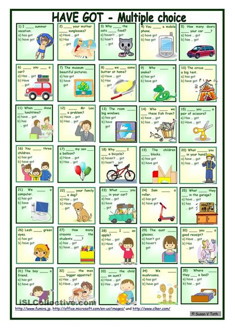 sentence patterns multiple choice 124 best have has chart and worksheets images on pinterest