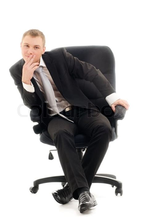 Sit In A Chair Or Sit On A Chair by Sitting In Chair Isolated White Stock