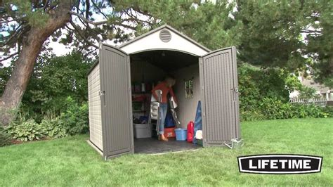 lifetime    foot outdoor storage shed model