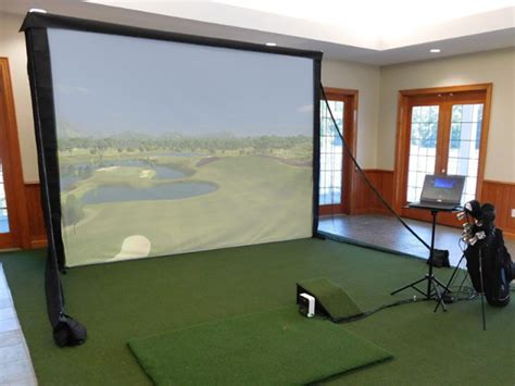 complete skytrak and p3proswing indoor home golf simulator