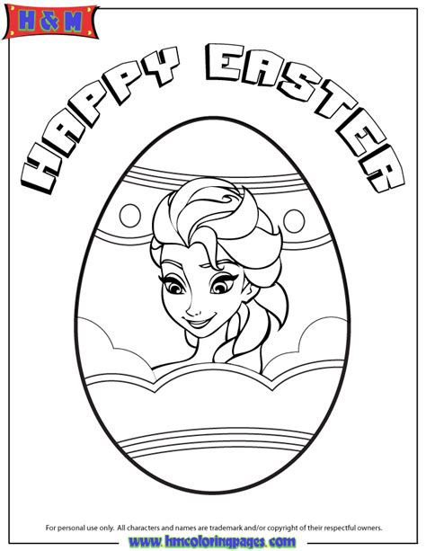 elsa in easter egg coloring page h m coloring pages