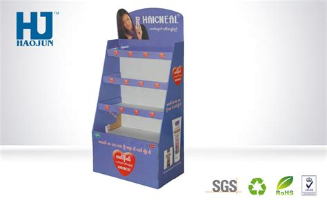 Cosmetic Rack Display by Loading Weight Cardboard Advertising