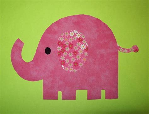 fabric applique template only elephant by etsykim on etsy