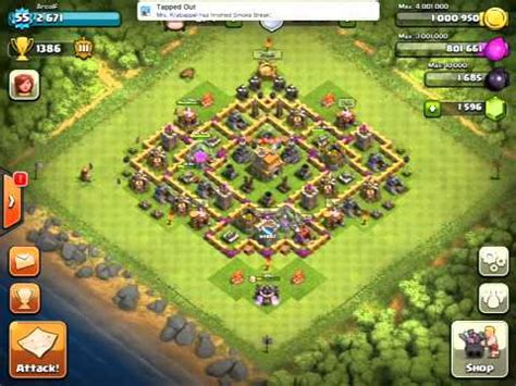 coc base 7th hd image dawnload clash of clans town hall 7 trophy base improved youtube