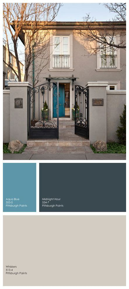 Cool Front Door Colors An Blue For A Front Door A Medium Blue That Has A Touch Of Green The Small Bit Of