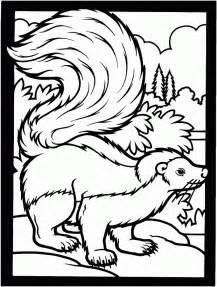 free printable skunk coloring pages kids