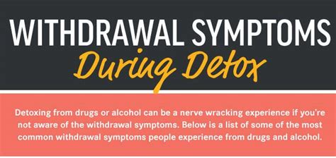 Heroin Detox At Home Laws In by Withdrawal Symptoms During Detox Infographic