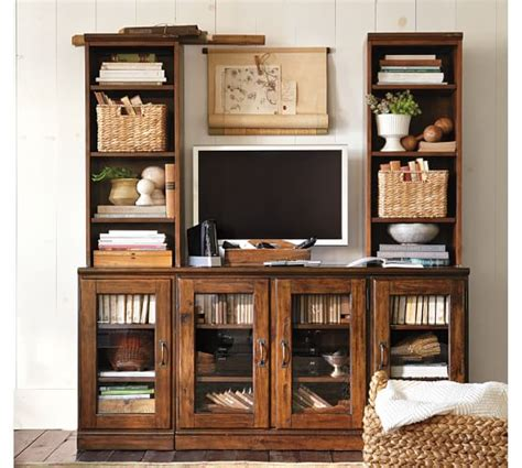 printer s glass door media suite pottery barn