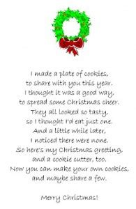 poems for late xmas gifts cookie cutter poem tip junkie
