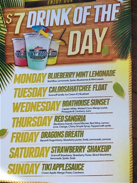 boat house drinks boat house drink menu specials picture of boathouse tiki