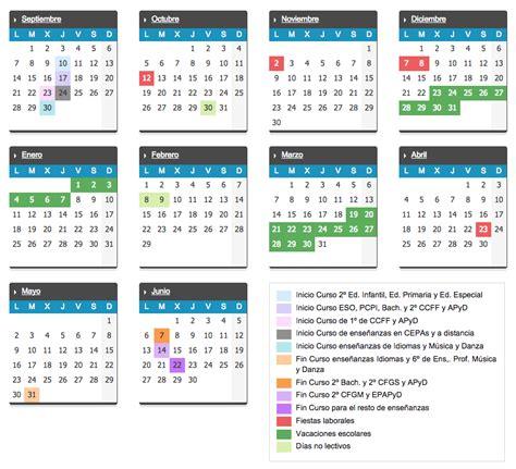 Calendario Sep 2015 Y 2016 El Curso Escolar 2015 2016 Arrancar 225 El 10 De Septiembre