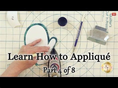 learn how to appliqu 233 with shabby fabrics part 4