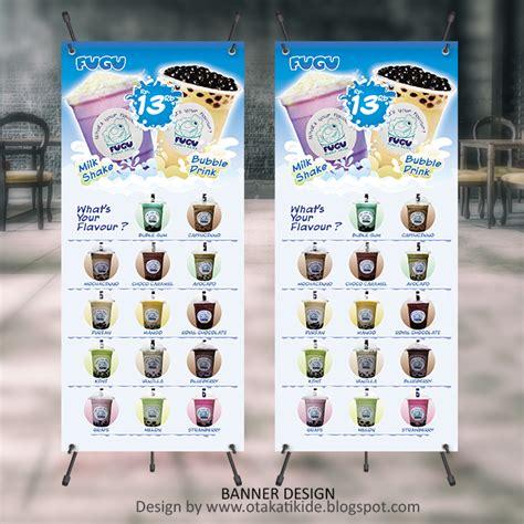 desain banner minuman x banner produk minuman